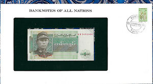 Banknotes-of-All-Nations-Burma-1972-1-Kyat-P56-UNC-DR-5692006-Birthday-2006