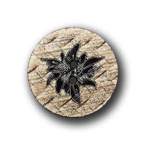 2532hb-28mm 3 große hellbraun-beige Trachtenknöpfe mit schwarzem Edelweiß