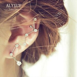 CZ-Stars-Galaxy-constellation-Sweep-Up-Ear-Pin-Cuff-Crawler-Climber-Earrings