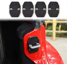 4pcs Door Lock Cover Buckle Abs Trim Sticker For Jeep Jk 2007 17 Carbon Fiber A Fits 2012 Jeep Patriot