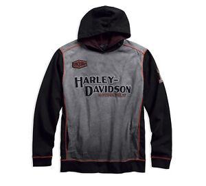 Harley Davidson Iron Block L//S Pullover Hoodie