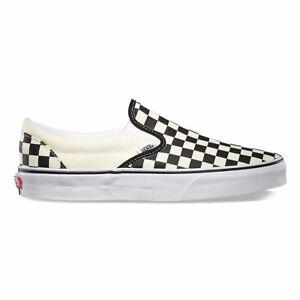 Vans-Classic-Slip-On-Checkerboard-Black-amp-White-Skate-Shoe-Mens