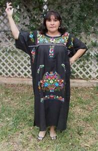 Details about 3XL Assorted Plus Size Peasant Hippie Boho Tunic Hand  Embroidered Mexican Dress