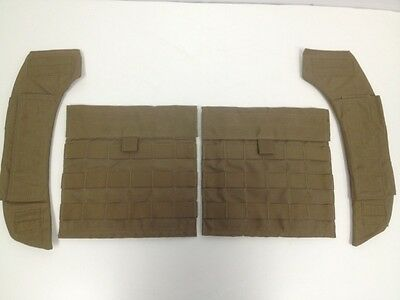 NEW EAGLE INDUSTRIES SPC COYOTE SIDE PLATE POCKET CARRIER AND SHOULDER PAD SET