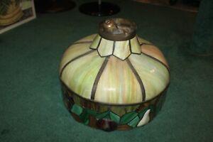 Vintage-Slag-Glass-Hanging-Chandelier-Fruits-Border-Very-Large-Slag-Lamp