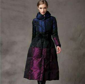 Women-Elegant-Winter-Down-Over-Knee-Thicken-Large-Size-Warm-Outdoor-Long-Coat