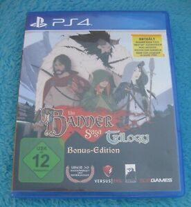 PLAYSTATION-4-PS4-034-THE-BANNER-SAGA-1-2-3-TRILOGY-TRILOGIE-034-SONY-Spiel-GAME