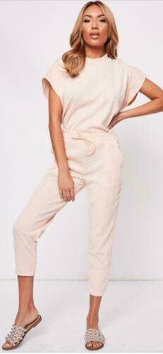 Ladies Womens Short Sleeve Boxy Lounge Wear Tracksuit Set Casual Comfy Two Piece