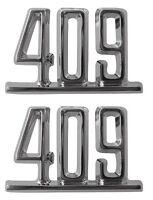 1965 65 Chevy Impala Front Fender 409 Emblems Pair