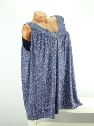 Shirt Kette Top Tunika Lagenlook Größe 46-52 one size blau bunt geblümt w
