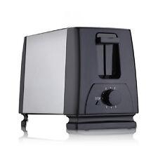 Edelstahl Toaster mit Krümelschubalde Doppelschlitz Toster 7 Stufen Toastautomat