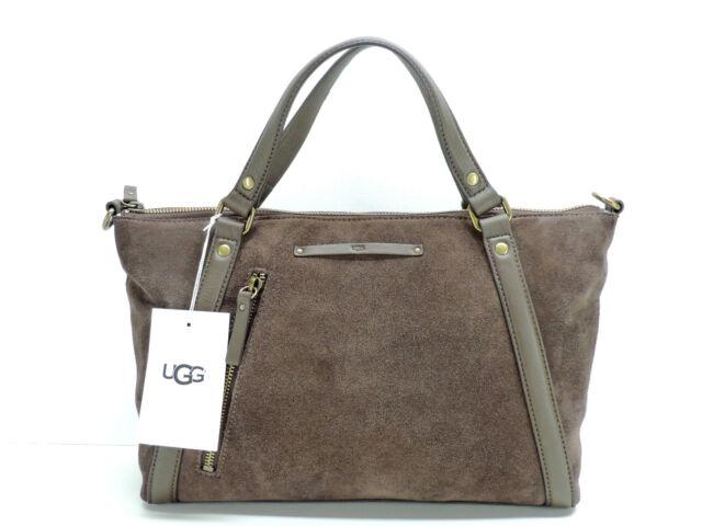 Ugg Jenna Satchel Handbag Strap Chocolate Brown Suede Leather New Nwt