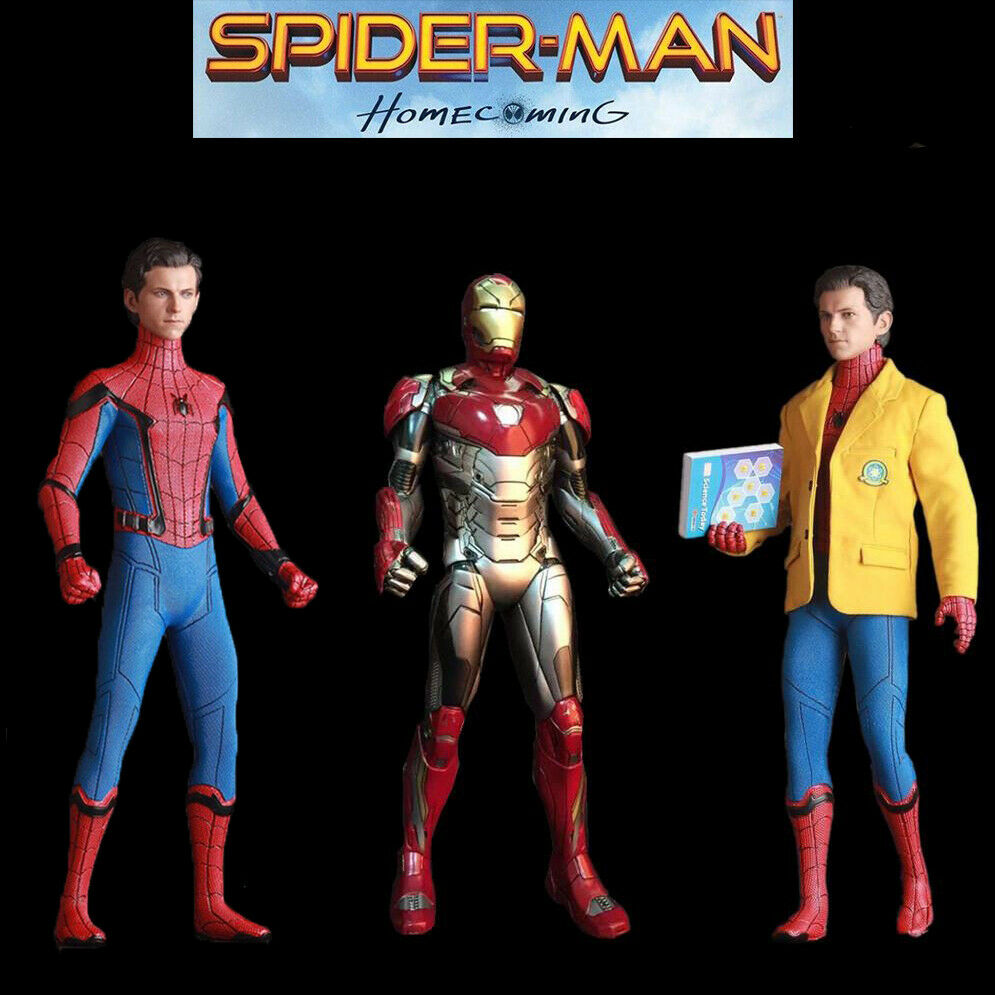 Crazy Toys marvel 12  RITORNO A CASA SPIDER MAN IRON MAN ACTION FIGURE STATUA modello