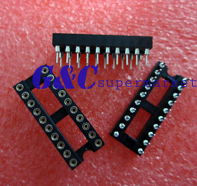 10pcs 20Pin DIP SIP Round IC Sockets Adaptor Solder Type gold plated machined