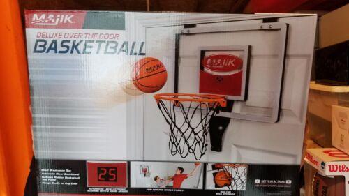 New Basketball with Electronic Scoring Majik Deluxe Over The Door Hoop