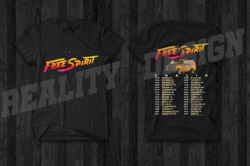 Khalid Free Spirit Tour Merch 2019 T Shirt Rap Hip Hop R/&B American Teen Concert