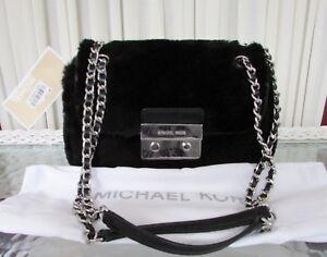 d0beb8069ba2 Image is loading Michael-Kors-Shearling-Leather-Sloan-Small-Shoulder-Bag-