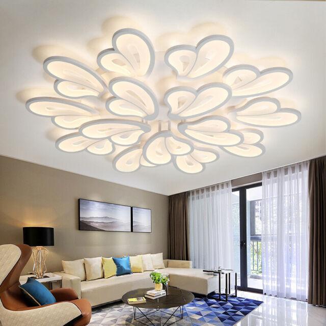 Acrylic Modern Led Ceiling Lights Dining Living Room Bedroom Chandelier Lamp Uk