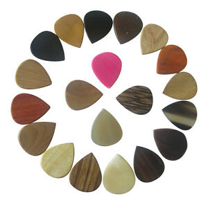 EXOTIC-GUITAR-PLECTRUM-PICK-CHOICE-OF-BONE-WOOD-HORN-COCONUT-WOODEN-TIMBER