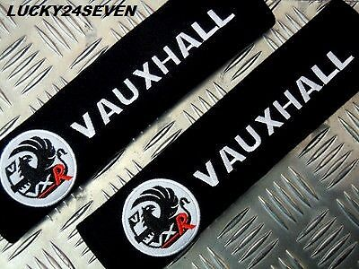"corsa astra vectra zafira 2 Car Seat Belt Shoulder Cover Pads Vauxhall /""VXR/"""