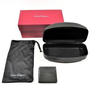 61ebc9d11c9d Image is loading SALVATORE-FERRAGAMO-Black-Eyeglass-Glasses-Sunglasses- Clamshell-Hard-