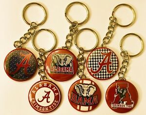 Set-of-6-Key-Chains-ALABAMA-CRIMSON-TIDE-Key-Chain