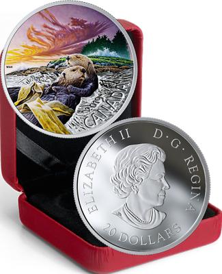 2019 Canadian Fauna #1 The Polar Bear $20 1 OZ Pure Silver Coloured Coin Canada