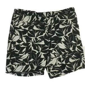Mario Serrani Womens Bermuda Shorts Sz 16 XL Black White Stretch Tummy Control