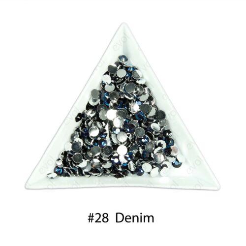 1000 Choose Colour Crystal Flat Back Nail Art Face Festival Rhinestones Gems