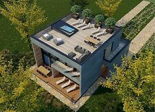 2240 Sqft Eco Solid Timber Airtight Panel House Kit Mass Wood Clt Home Prefab