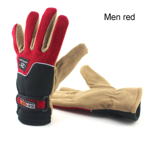Outdoor Sport Winter Warm Fleece Cycling Bicycle Gloves Full Finger Windproof