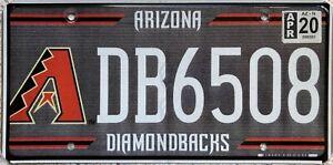 Arizona Diamondbacks Baseball American License Licence USA Number Plate DB6508