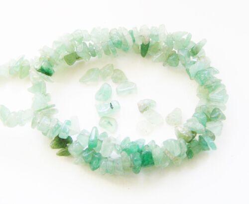 40cm SERAJOSY Aventurin Splitter Perlen grün für Kette ca