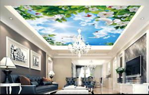 3D White Petals Sky 89 Wall Paper Wall Print Decal Wall Deco AJ ...