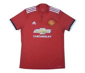 Manchester United 2017-18 ORIGINALE Maglietta (eccellente) L soccer jersey
