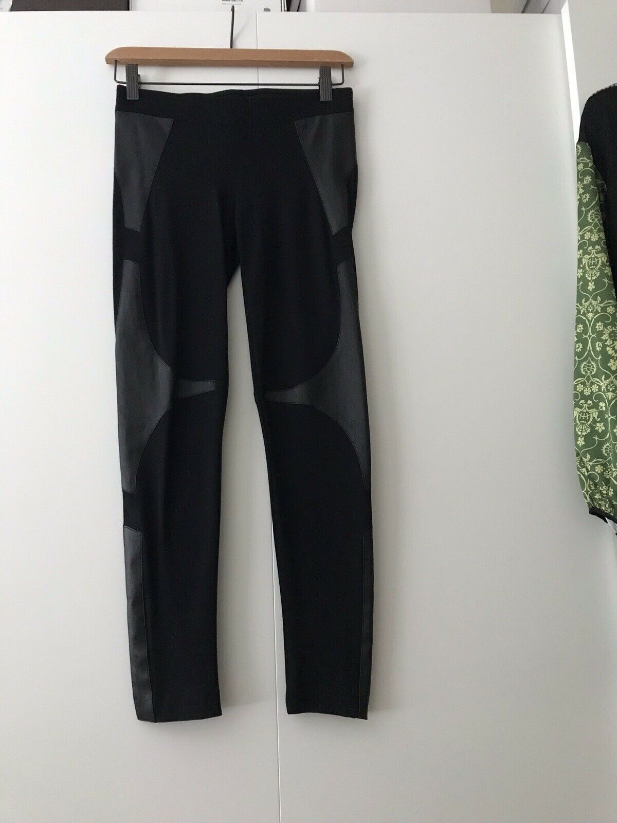 Helmut Lang Leather Paneled Legging Size 0