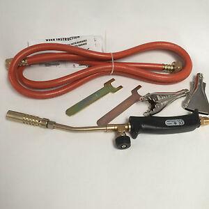Gas Torch Burner 2m Hose Regulator Roofer Plumber Weed Kit