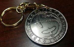 Viking Tree of Life Ravens Huninn Muginn Talisman Keychain Key Chain Coin Token
