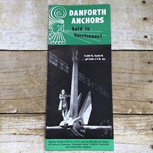 Vintage-Danforth-Anchors-Brochure-Boat-Boating-Fishing-History-Tankers-1950-039-s