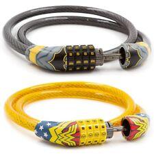 Batman, Wonder Woman or Harry Potter Kid's Superhero Combination Bike Lock Cable