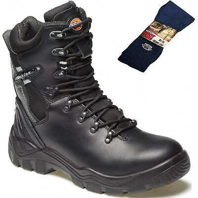 Dickies Trenton Pro Safety Work Boots Black Sizes 6-12 Men/'s Shoes