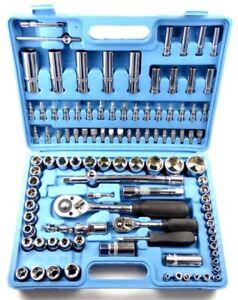 108-tlg-Werkzeugkoffer-Ratschenkasten-Werkzeugkasten-Nuss-Bit-Torx-6-Kant-Set