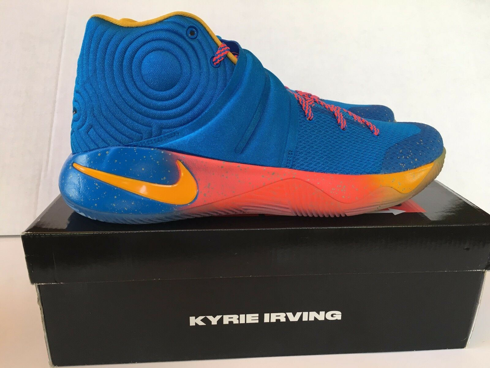 Nike kyrie 2 promo eybl - dimensioni nuove 847687-470 oro blu rosso cremisi rari