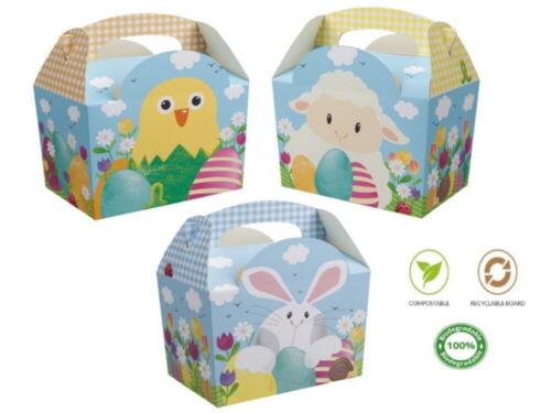 8 desfile De Pascua cacería de huevos bolsa de harina de conejo pollito llevar cajas ~ Niños Fiesta caja de alimentos
