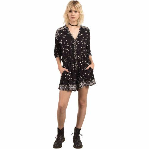 S 3 Gmj 4 Nwt Womens Black 2017 Maniche Pagliaccetto 65 Volcom Stars Design qOFF1YS