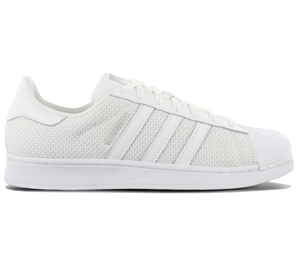 Adidas Originals Superstar Chaussures Baskets Retro de Sport Blanc Textile