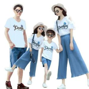 Family Matching Parent-child Clothes Father Mother and Daughter Son Tops+Pants