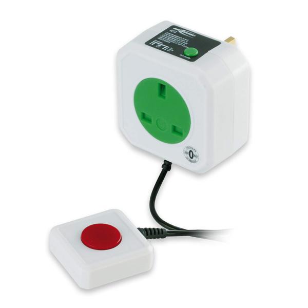 Ansmann Aes-3 Zero Watt Energy Saving Mains Socket   Smart Safety Plug To And -