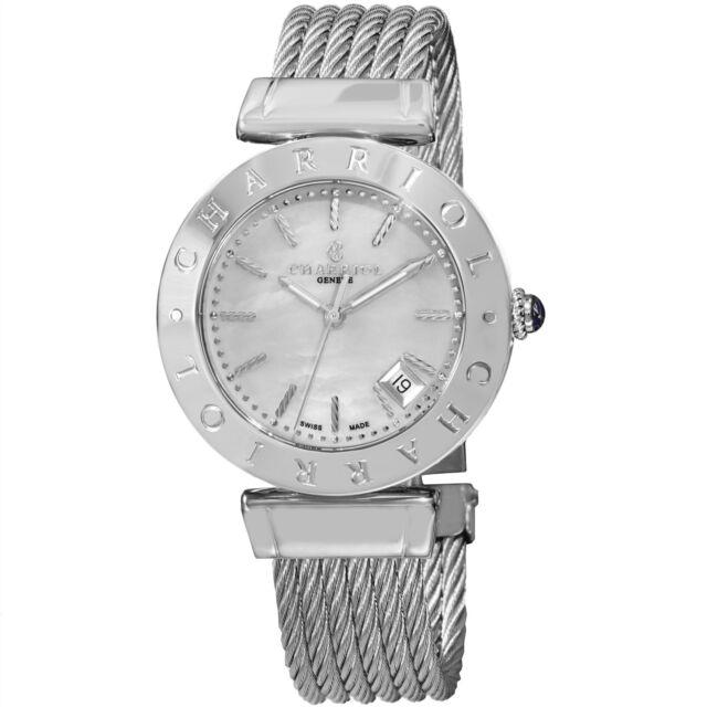 Charriol Women's Alexandre C MOP Dial Stainless Steel Quartz Watch AMS51002