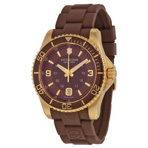 NWT-Victorinox-Swiss-Army-Men-039-s-Maverick-GS-Brown-Dial-Date-Watch-241608